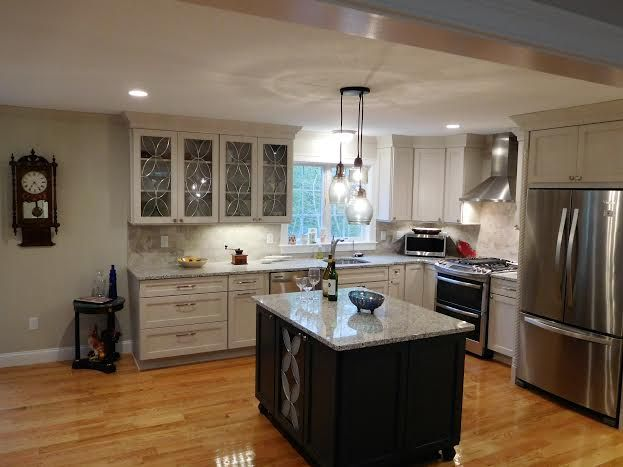 My Kitchen Cabinets By Schrock In Dover And Forest Floor Light