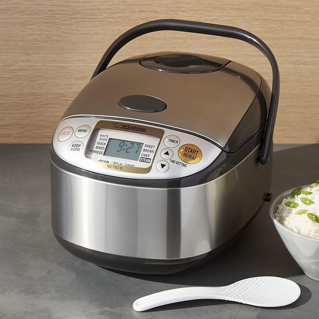 Zojirushi Rice Cooker Ns Tsc10xj Reviews Crate And Barrel Zojirushi Rice Cooker Rice Cooker Zojirushi
