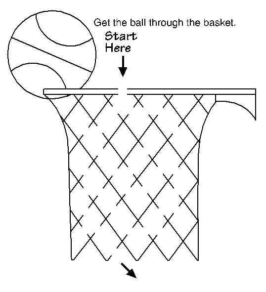 basketball maze for kids printable coloring activity pages