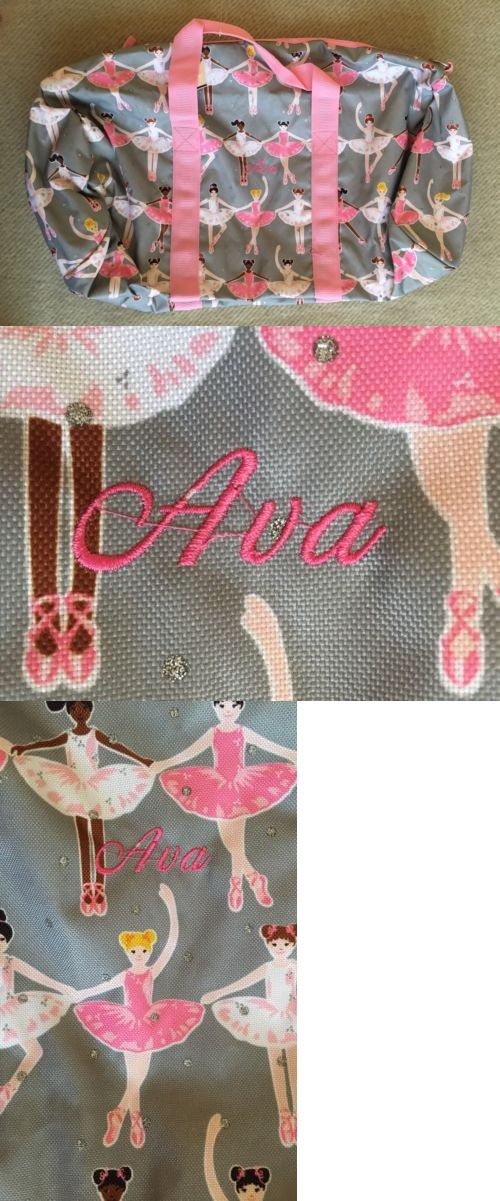 Backpacks and Bags 57882: Ava Mono Pottery Barn Kids Pink Ballerina Large Duffle Gym Bag Backpack Dance -> BUY IT NOW ONLY: $34.5 on eBay!