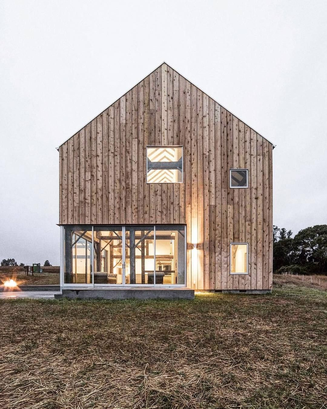 Scandinavian Barn Living Getoutdoors Upknorth Minimal Open Concept And Completely Clad In Timber Seb Modern Barn House Architecture House Designs Exterior