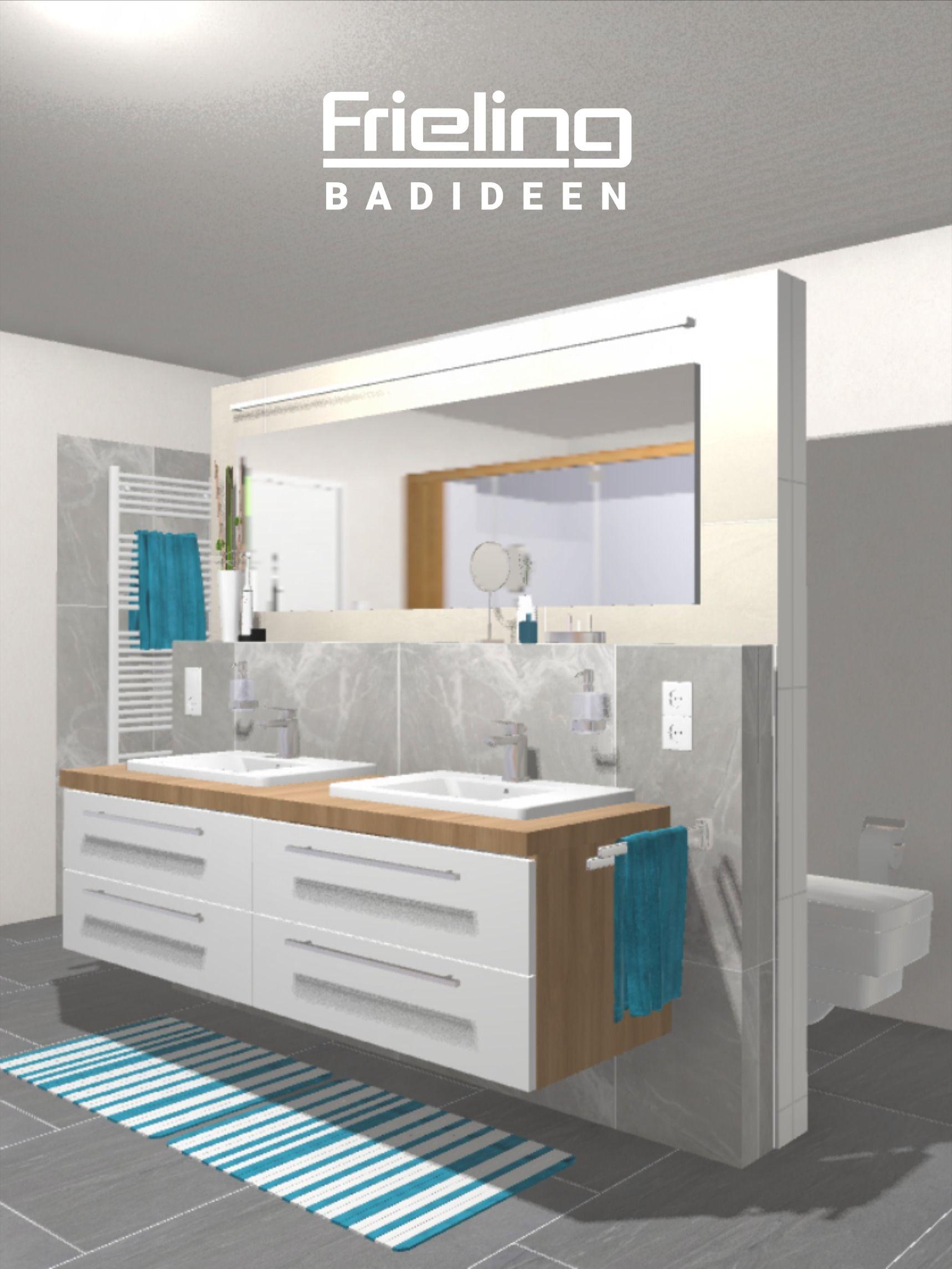 Das große T Bad mit Sauna – Ansicht Waschtischanlage und T Zone ...