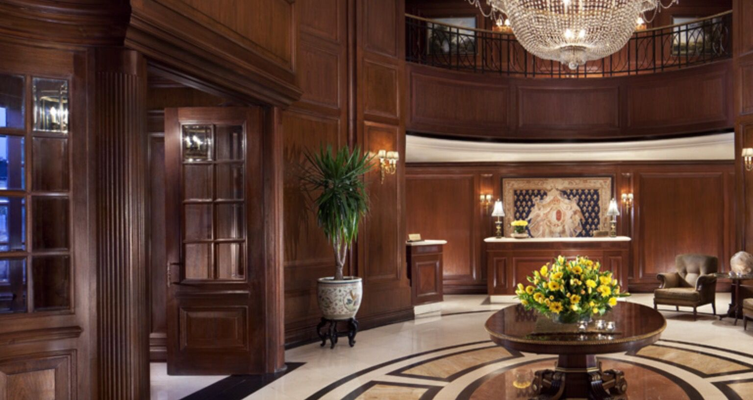 Lobby Of The Ritz Carlton Hotel In Santiago Chile Large Round