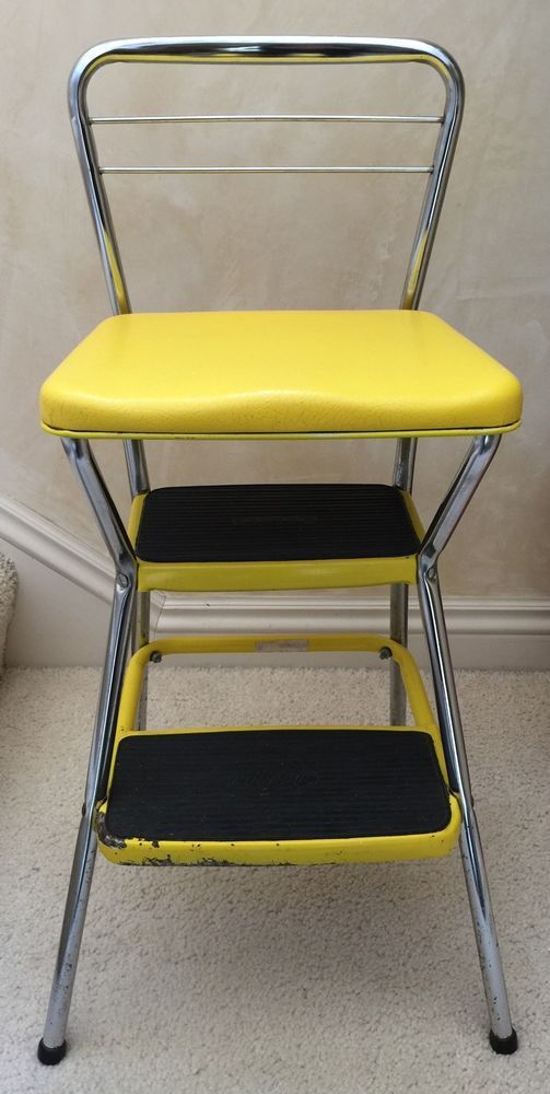 Peachy Vintage Mid Century Cosco Yellow Flip Seat Kitchen Step Unemploymentrelief Wooden Chair Designs For Living Room Unemploymentrelieforg