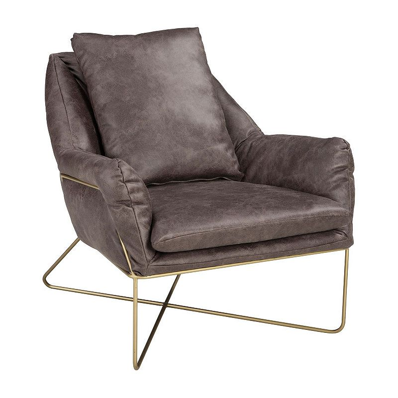 Signature Design By Ashley Crosshaven Accent Chair Grey Accent