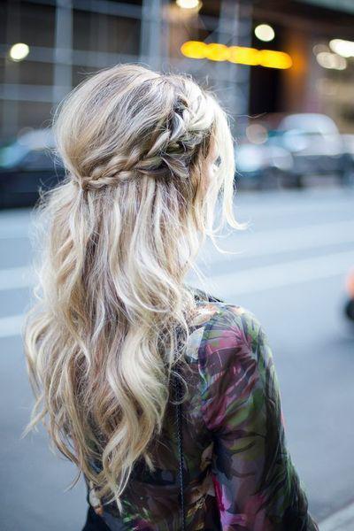 (long braids hairstyles) Wedding hair Coiffure mariage