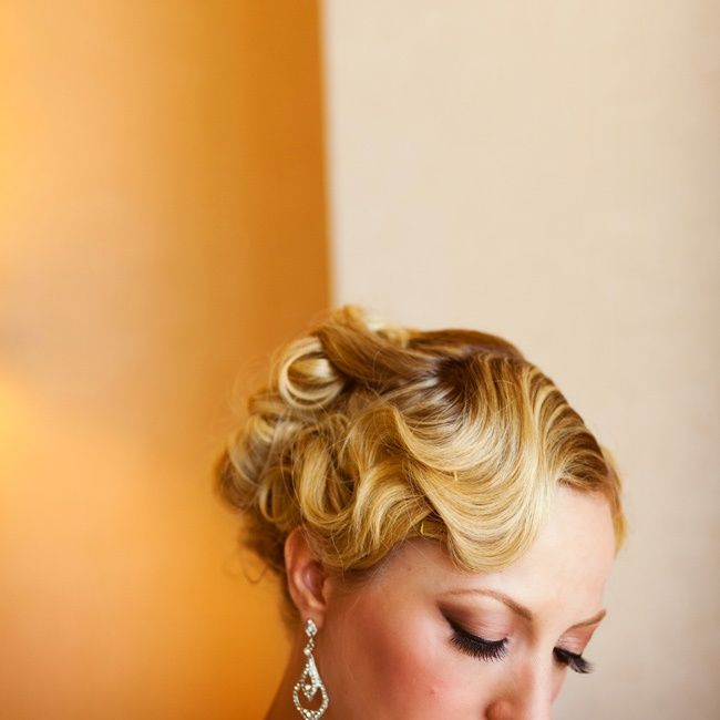 vintage up-do, pin curls