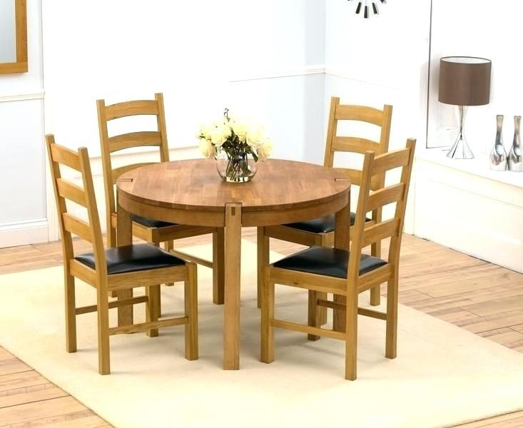 Modern Dining Table Set For 4 Graphics Inspirational Or Solid Oak Circular Round