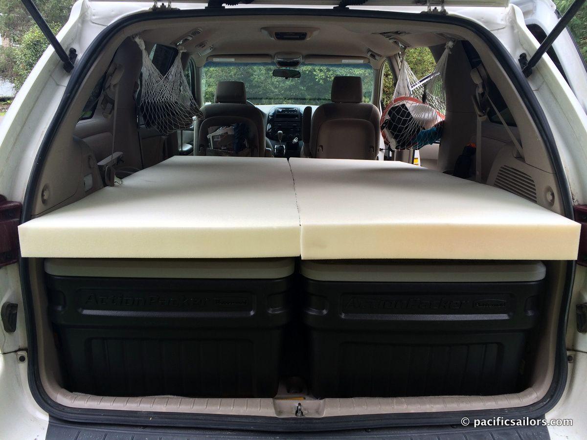 van hammock Google Search Minivan camping, Mini van