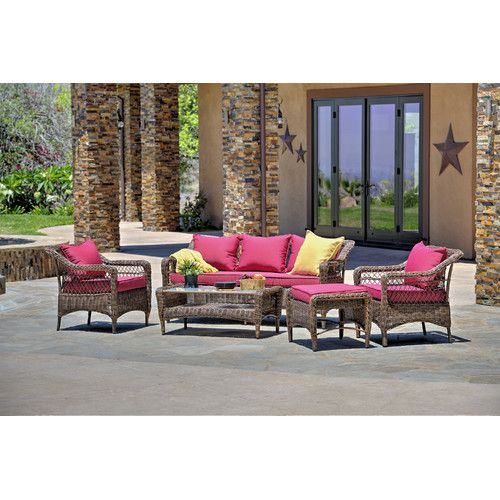 Found it at Wayfair - Romana 5 Piece Seating Group with Cushions