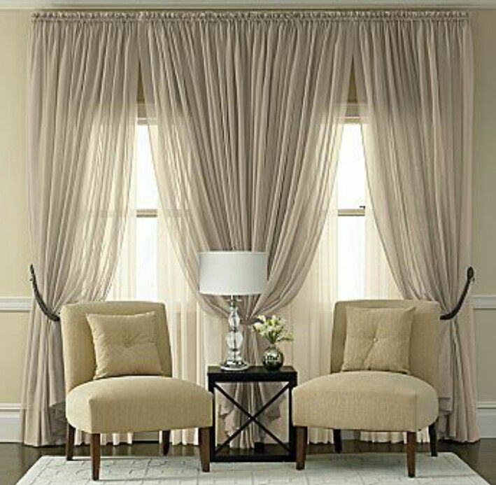 Exceptionnel I Love The Sheer Neutral Curtains. Perhaps Iu0027d Leave The Middle Curtains  All Sheer