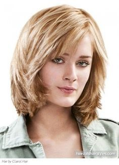 medium hairstyles round face  Google Search   Pinteres