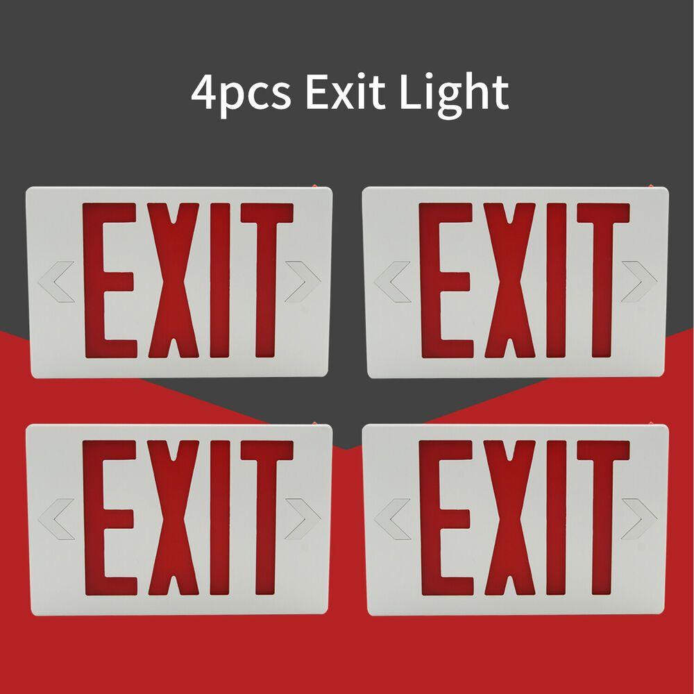 Sponsored Ebay 4pc Led Emergency Exit Light Sign Red Indoor Modern Battery Backup Ul Listed Emergency Exit Signs Battery Backup Exit Sign