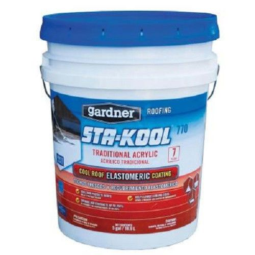 Gardner 4 75 Gallon Pail Kool Seal White Premium Elastomeric Roof Coating Elastomeric Roof Coating Roof Coating Cool Roof