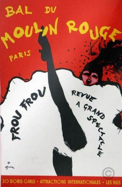 Bal Moulin rouge Frou Frou poster by Gruau René