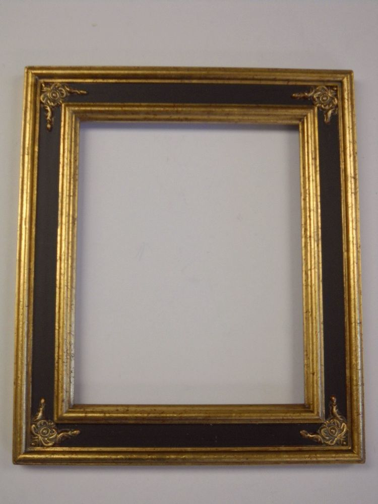 Picture Frame 16x20 Vintage Chic Antique Style Baroque Black Gold