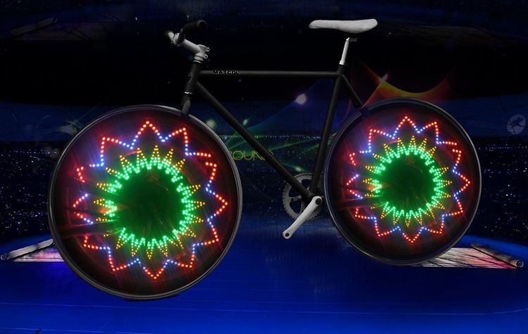 Wholesale China IFire Bicycle Spokes Lights Cycling Bike Wheel Light 32 Patterns Double Side Images B2B Online Trading Marketplace - PackTwo.com