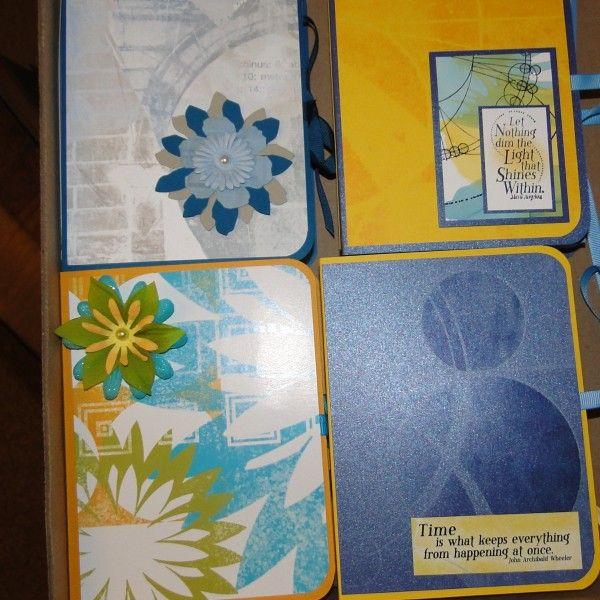 projects  club scrap  notecard holder handmade books