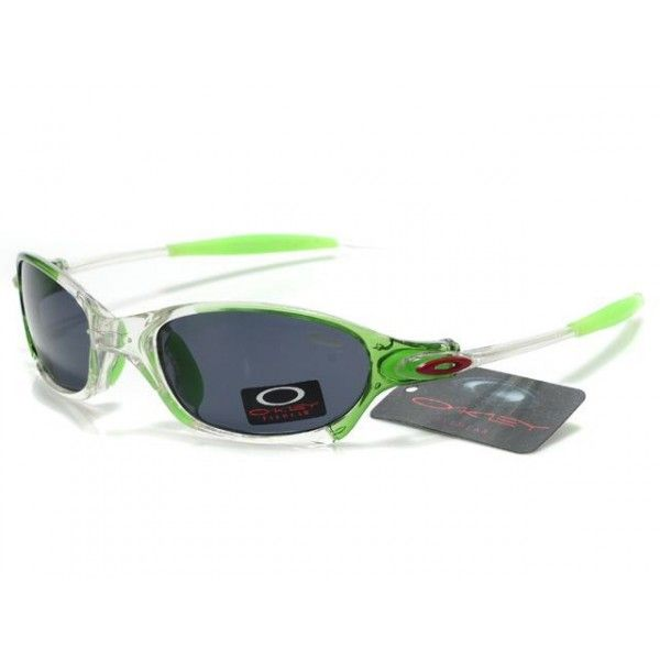 $14.99 Cheap Oakley Juliet Sunglasses Black Lens Clear White Green Frames  Shop Deal www.racal
