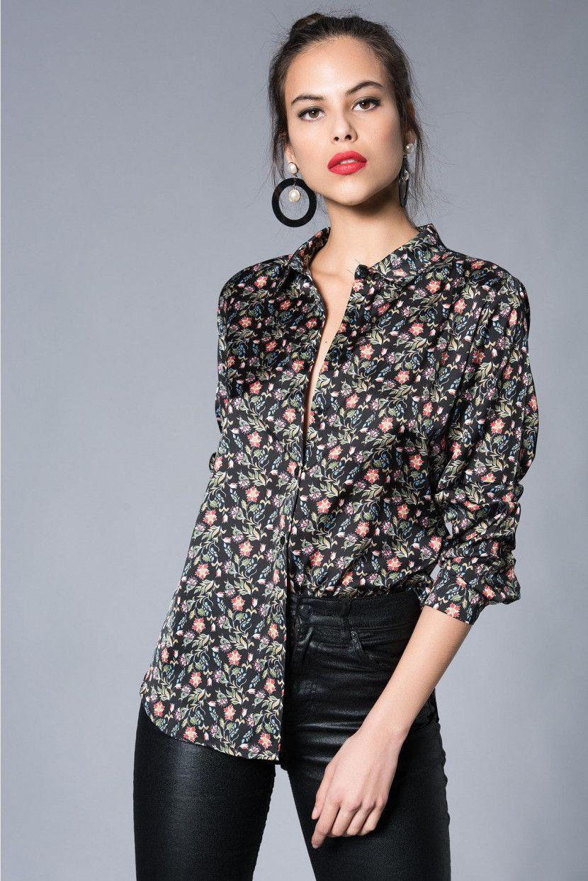 75f300386a3d3 Kadın Multi Çiçekli Gömlek #Rahat #ve #Şık #Kadın #Gömlek #Modelleri ...