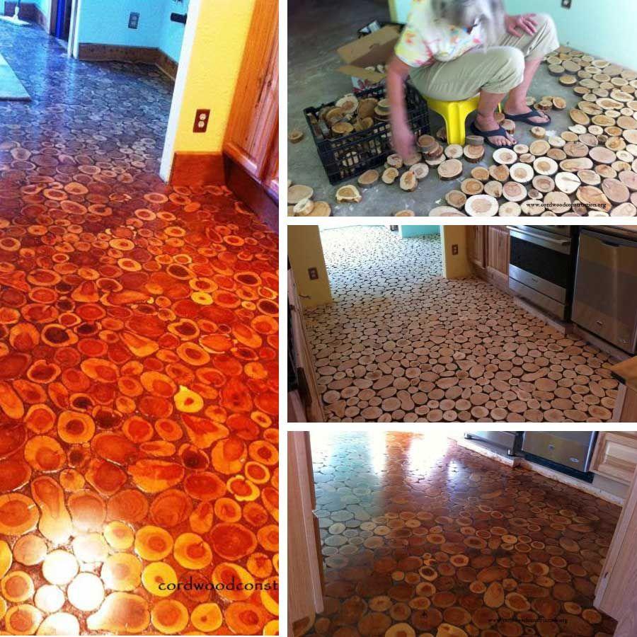 Pavimento con dischi di legno fai da te pinterest for Dischi di legno