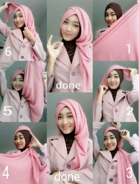 Tutorial Hijab Segi Empat Ala Elzatta Hijab Kursus Hijab Gaya