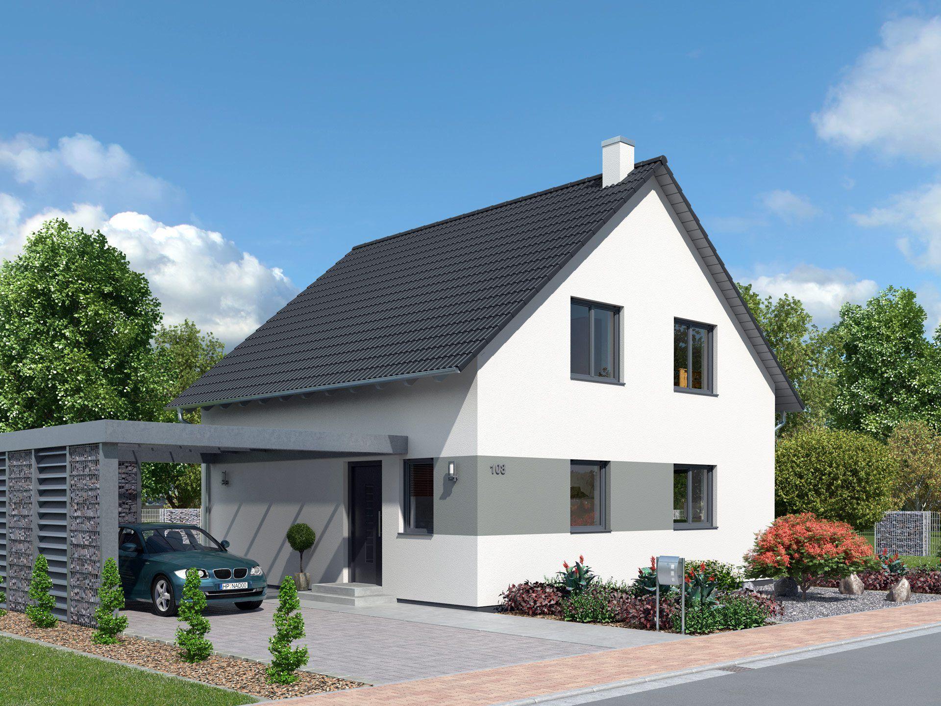 kompakthaus 108 massivhaus von ytong bausatzhaus energiesparendes einfamilienhaus mit. Black Bedroom Furniture Sets. Home Design Ideas