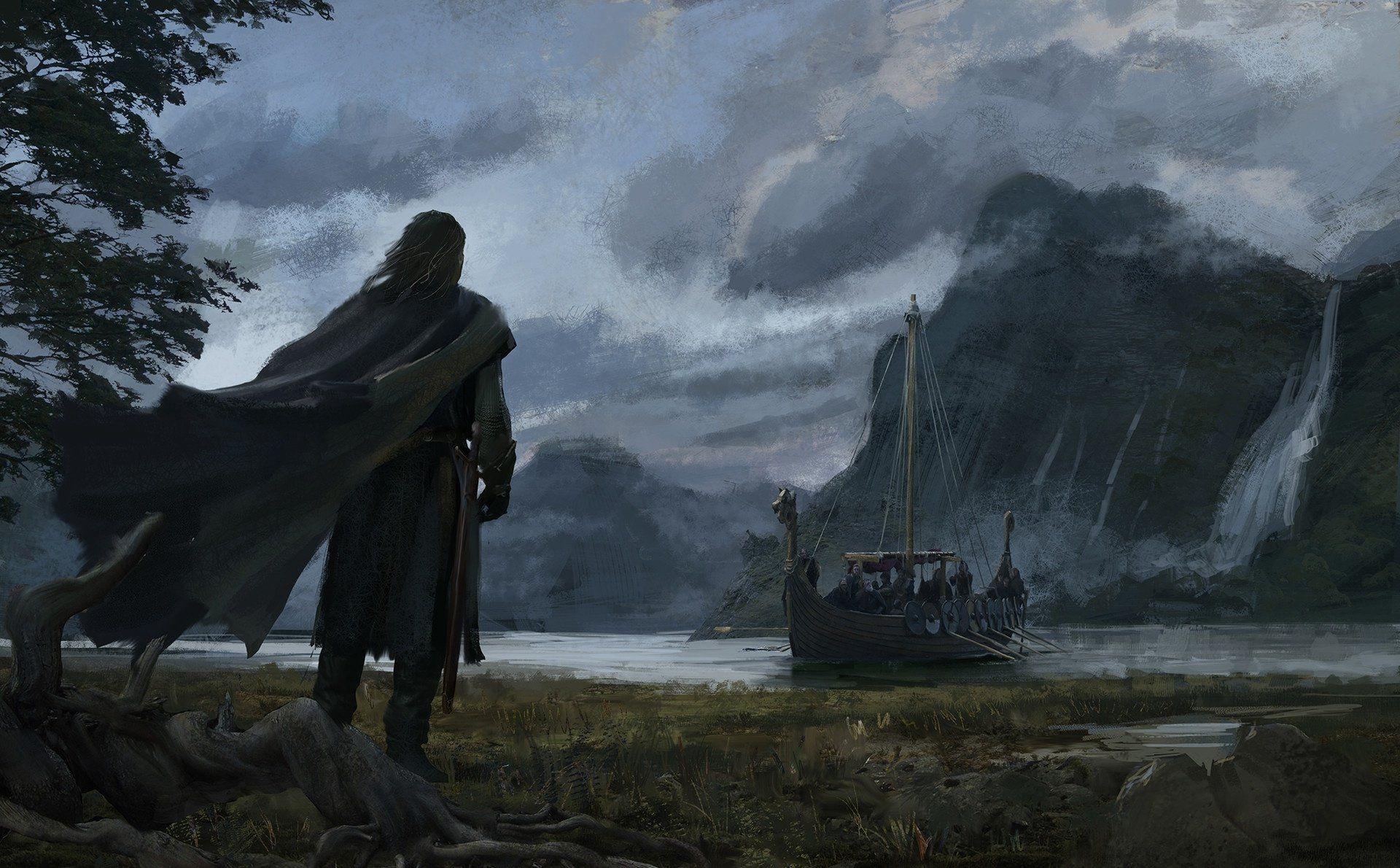 Fantaisie Viking Drakkar Cape Guerrier Ere Bateau Fond D Ecran Fond Ecran Paysage Fantastique Fond Ecran Paysage