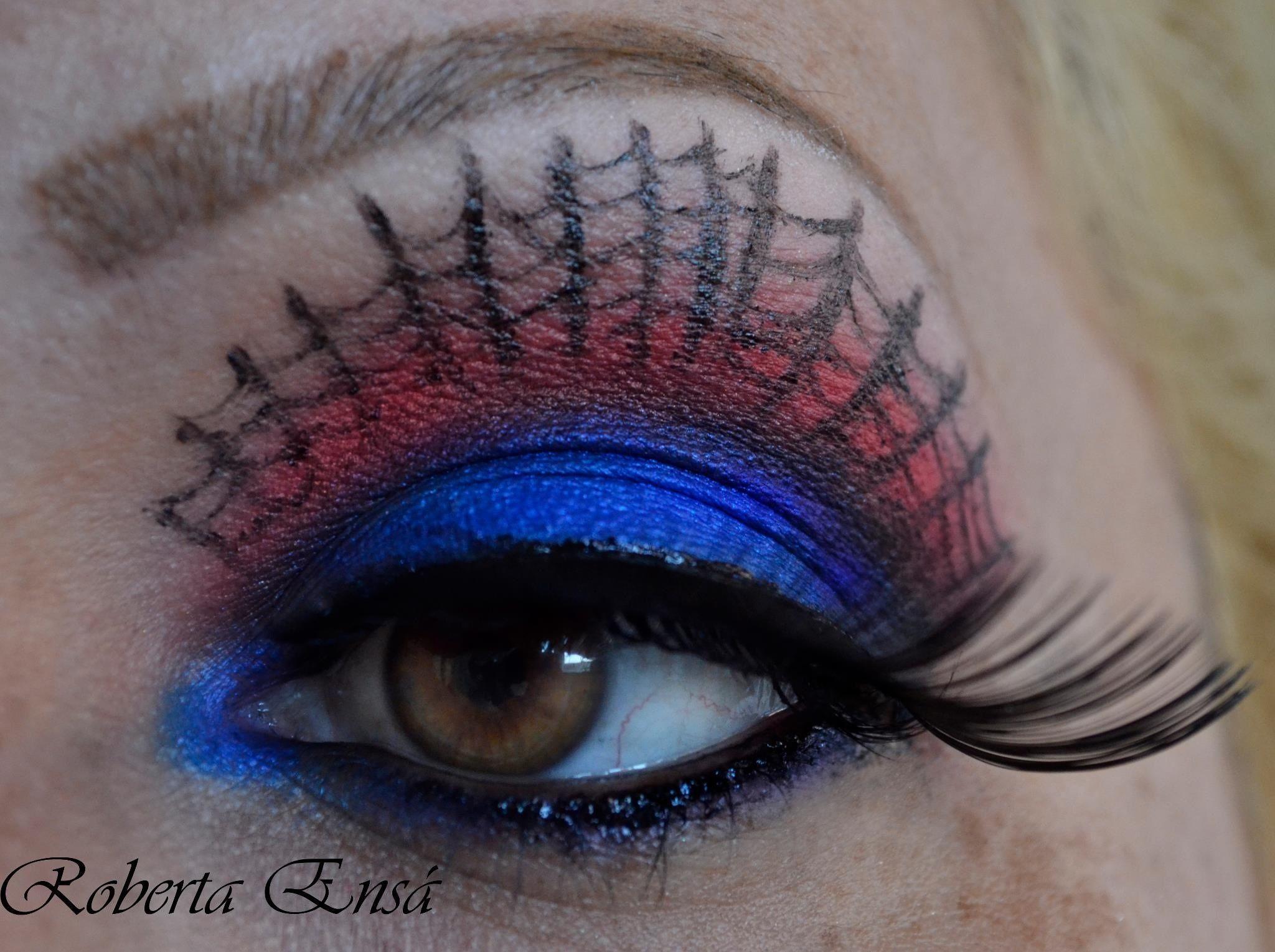 Maquiagem homem aranha,makeup spider mem!