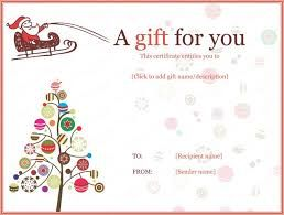 Free Printable Gift Certificates Templates Image Result For Christmas Tree Gift Certificate Template  Gift .