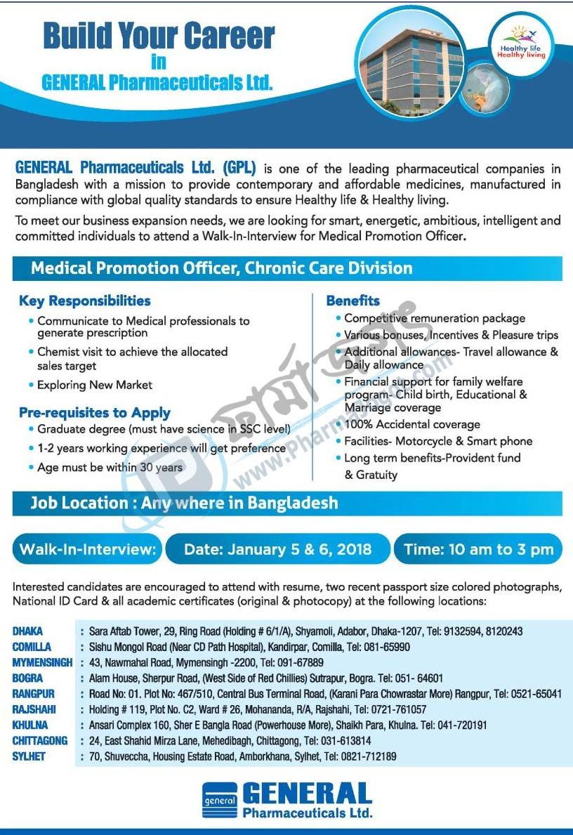 Medical Promotion Officer, Chronic Care Division @GENERAL ...