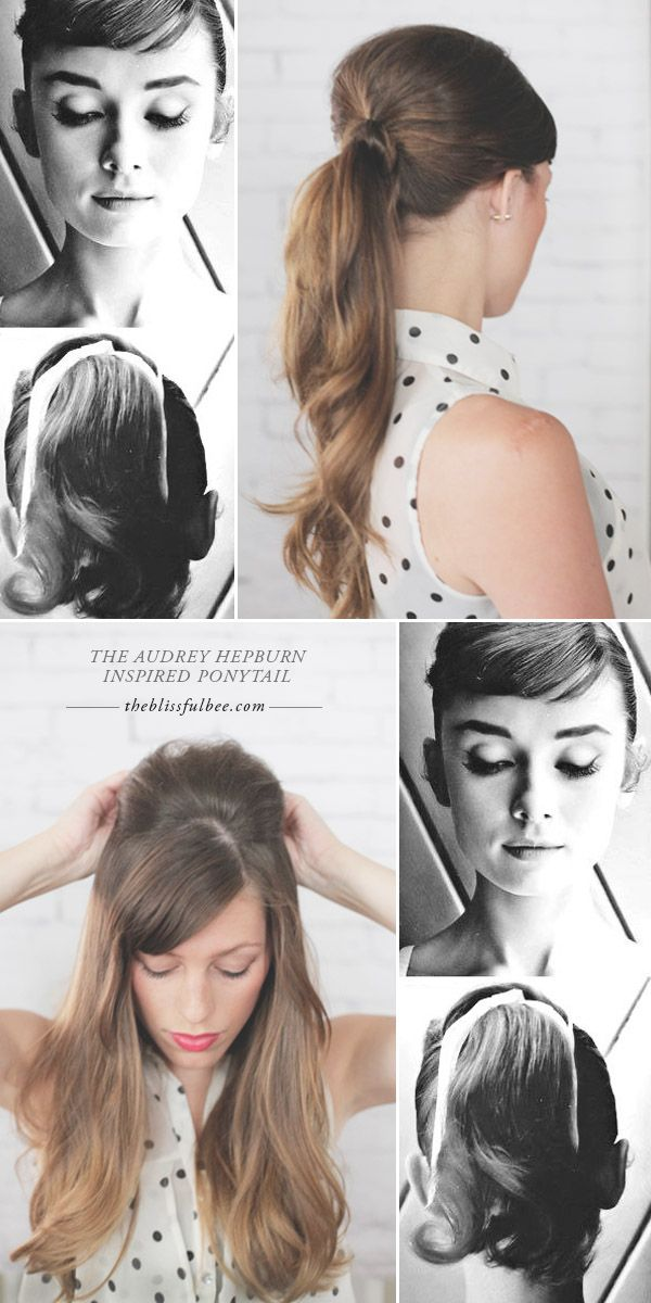 The Audrey Hepburn Ponytail The Blissful Bee Hair Styles Audrey Hepburn Hair Vintage Hairstyles