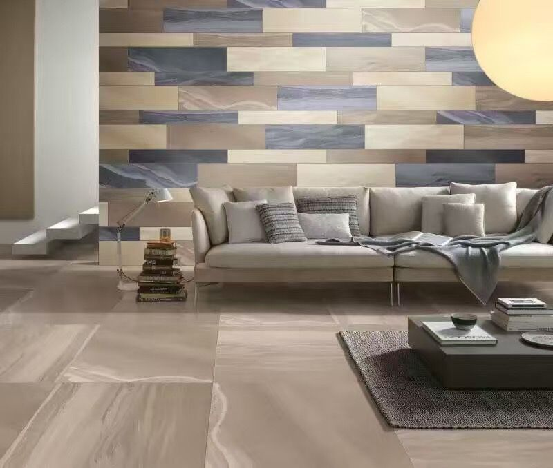 Glazed Floor Tile Matt Finish With Grey And Beige Option We Can Also Give You Option 1 3 Water Absorption Porcelai Modern Murphy Beds Home Decor House Design