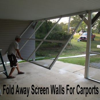 fold away screen walls for carports or patio s yelp garage ideas rh pinterest com