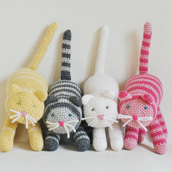 Design Your Own Crochet Cat - Unique Cat Made To Order With Natural Fibers