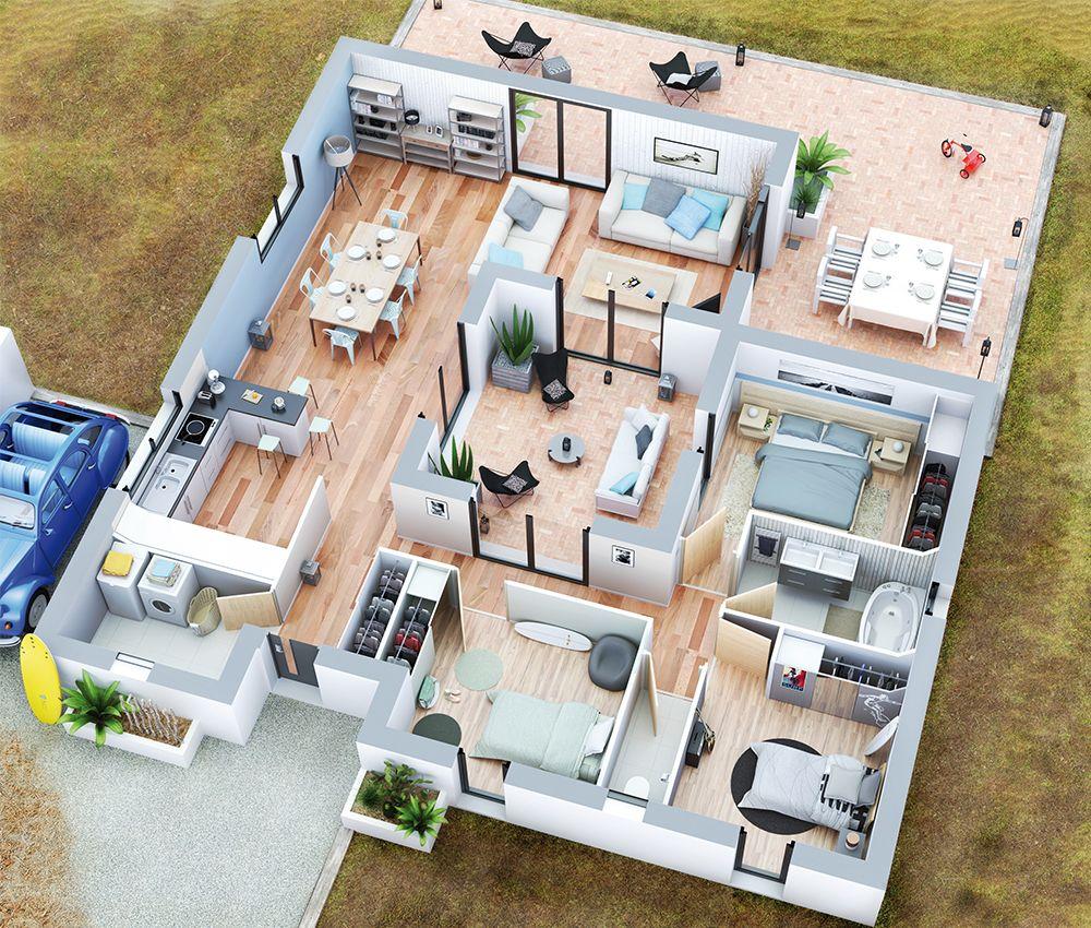 Couleurs villa vous propose la villa patio moderne contemporaine cette maison est idéale pour