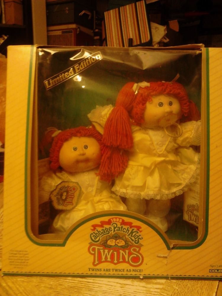 1985 Cabbage Patch Kids Twins New In Box Limited Edition Cabbage Patch Kids Vintage Cabbage Patch Dolls Cabbage Patch Dolls