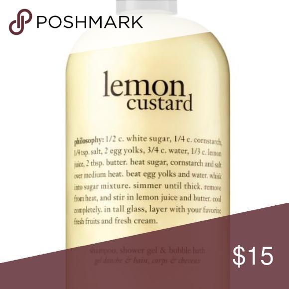 Nwot Philosophy Lemon Custard 3 In 1 Lemon Custard Custard Shower Gel