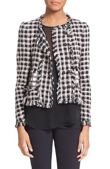 abf35a9dcf05 Rebecca Taylor Plaid Tweed Jacket available at #Nordstrom | that ...