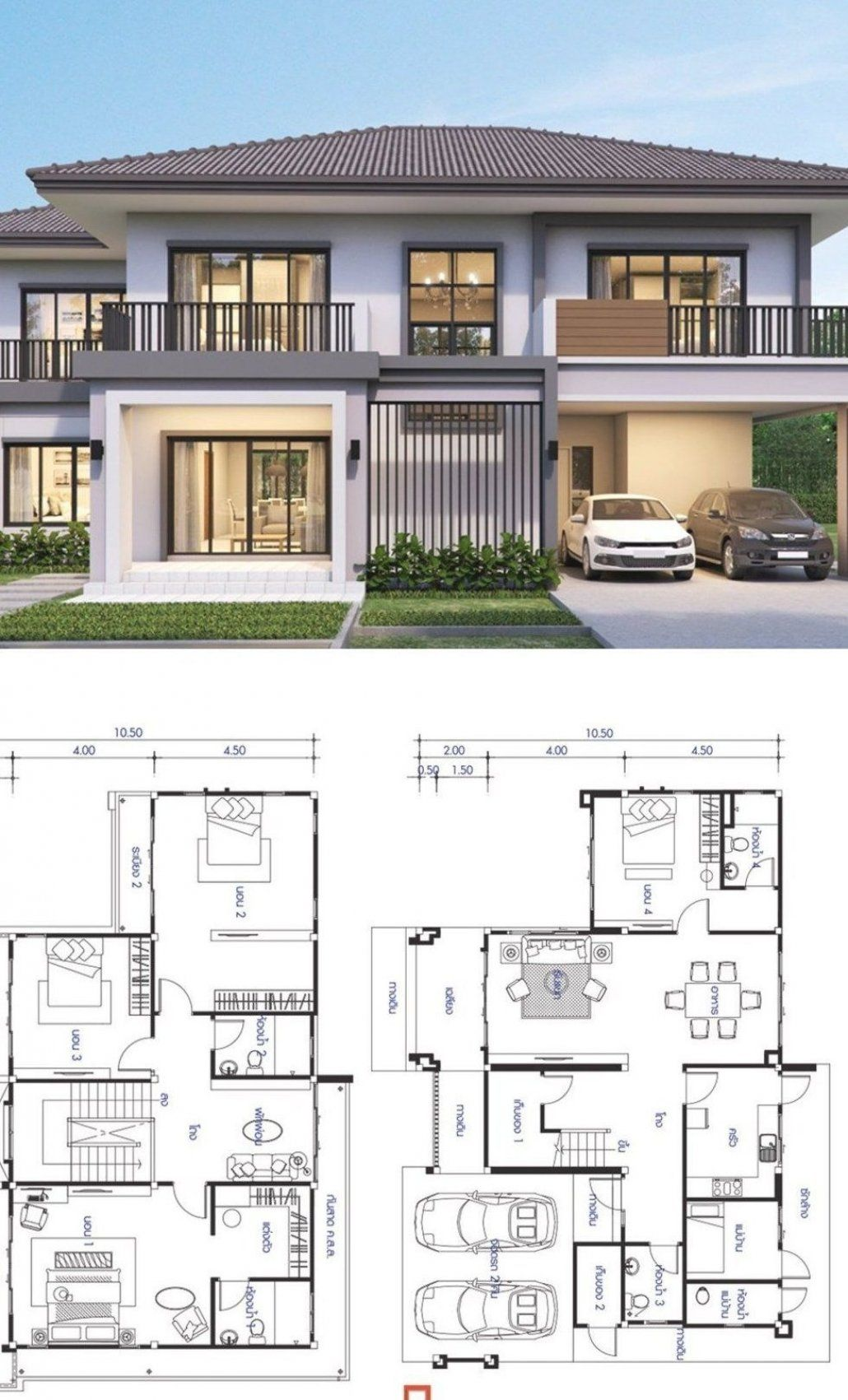 House Design Plan 15 5x10 5m With 5 Bedrooms Home Ideas House Design Plan 15 5 10 5m With 5 In 2020 House Designs Exterior Classic House Design Home Design Plans