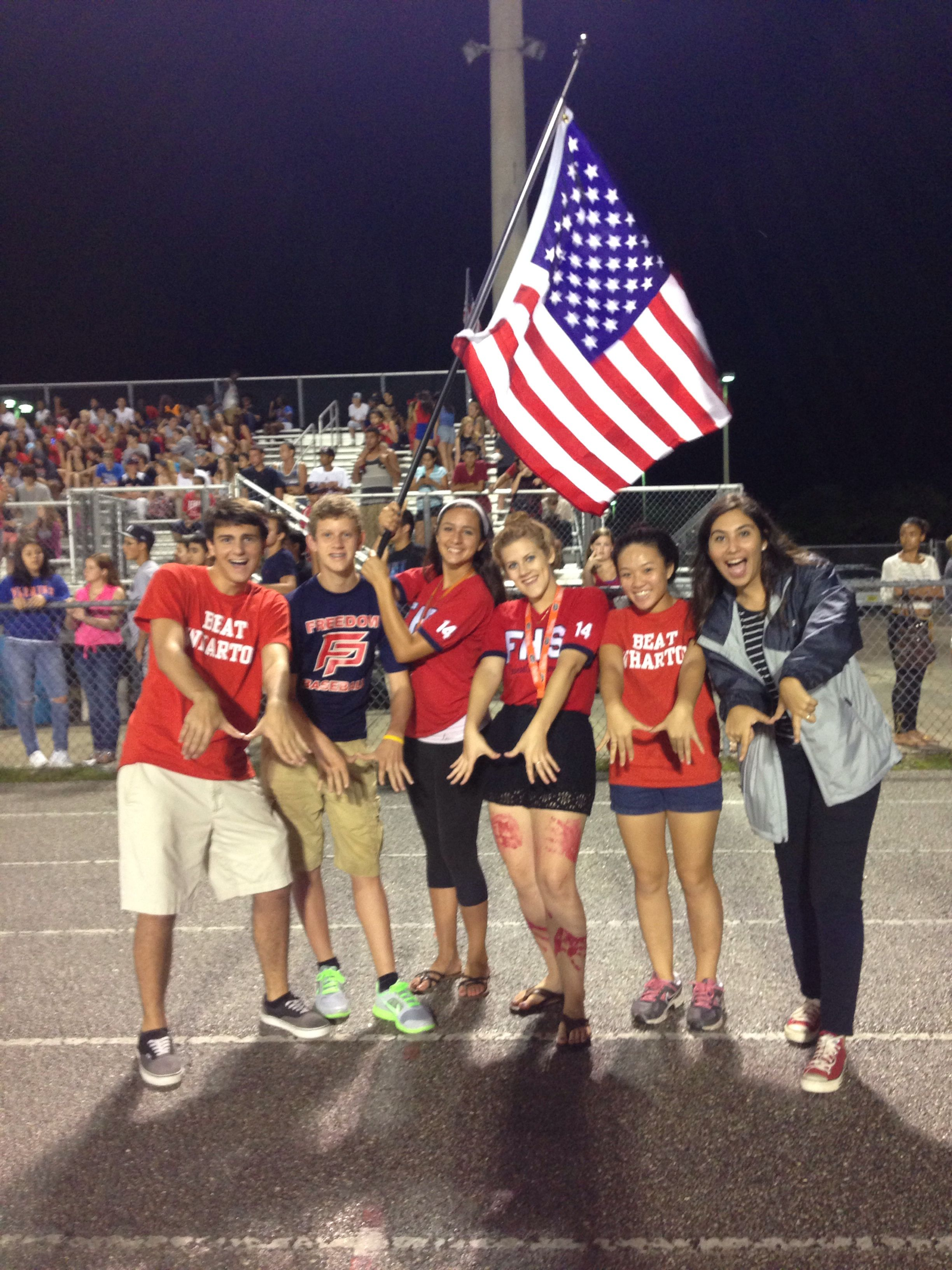 Some of SGA cheering on our FHS patriots against our rival ...