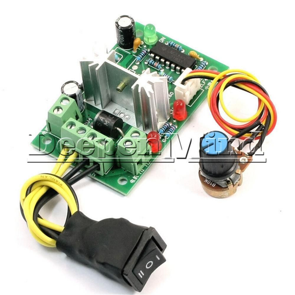 Details about 6-30V DC Motor Speed Controller Reversible PWM Control
