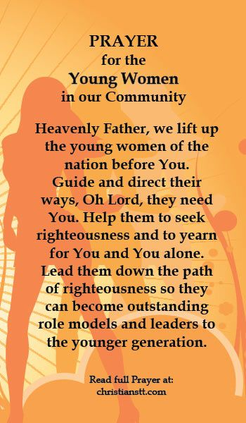 Praying for the Young Women in our Community | DAILY PRAYER | Prayers, Pray, Daily prayer