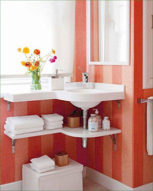 Bathroom Storage Ideas That Are Functional Fabulous Corner Sink Bathroom Small Bathroom Diy Modern Bathroom Design