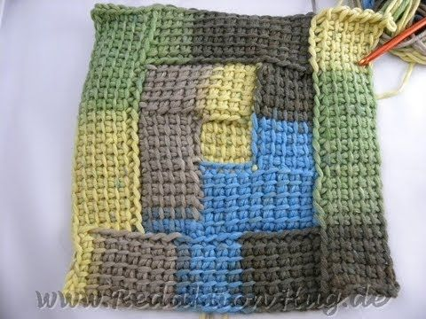 Tunesisch Häkeln Spiral Karos Tunesisch Häkeln Tunisian Crochet