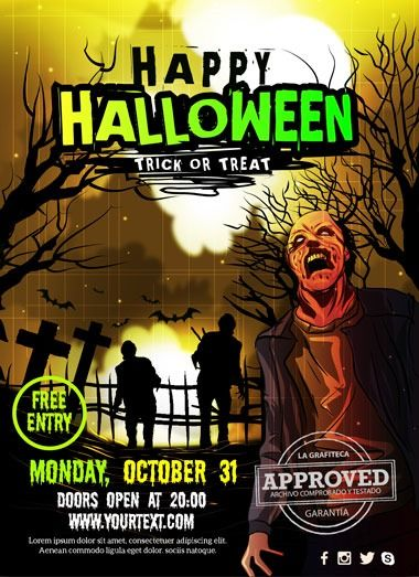 Carteles Para Fiestas De Halloween En Vectores Fiesta De Halloween Carteles Para Fiestas Halloween