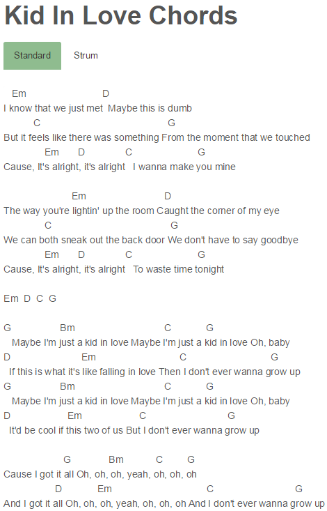 Kid In Love Chords Shawn Mendes Shawn Mendes Pinterest Kids In