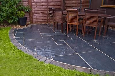 Blue Black Slate Paving Slabs Sawn Garden Natural Patio Stone Driveway Ebay Slate Patio Patio Stones Patio
