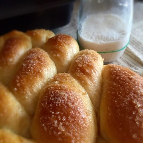 A simple bread recipe with great texture and taste. The natural yeast poolish dough is the texture and taste enhancer of this recipe. Altho...