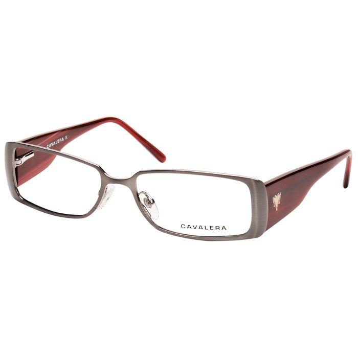 Armacao De Oculos Grau Cavalera Cv21161 Grafite Com Vinho Feminino